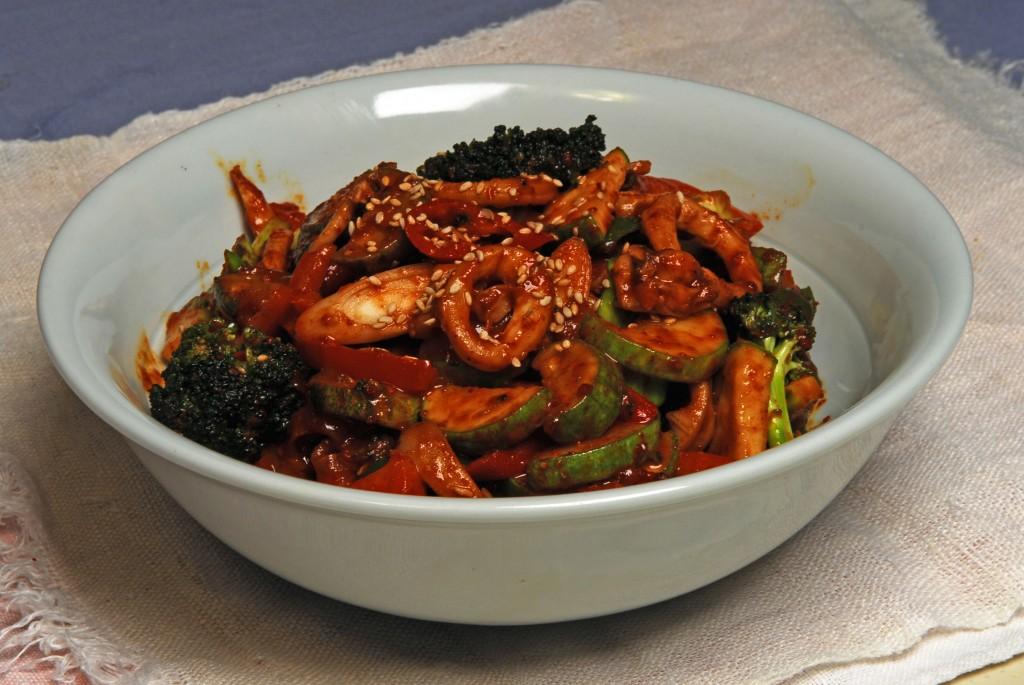 Sauteed Squid and Kimchi