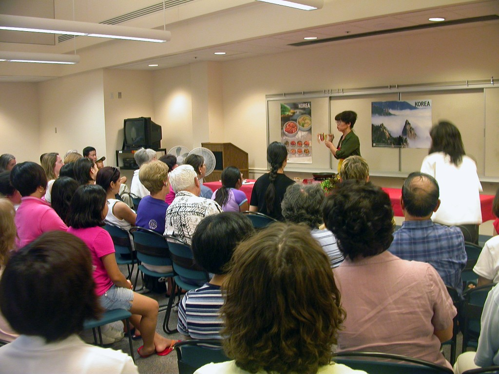 Korean Cooking Demonstration, George Mason Library, Virginia